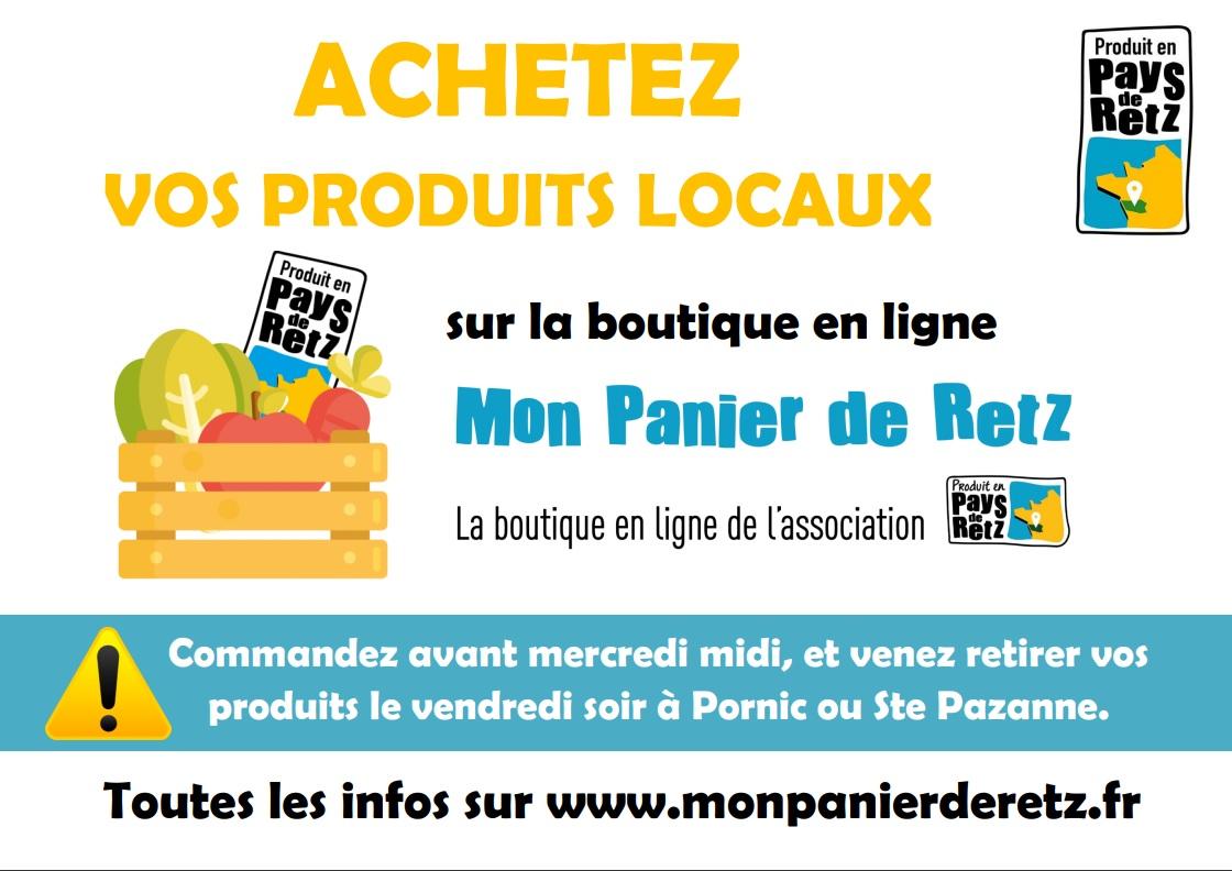 Site de vente en ligne «Mon Panier de Retz»
